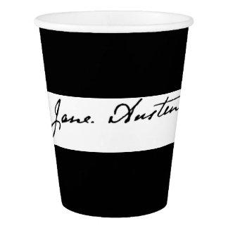 Jane Austen Signature Paper Cup