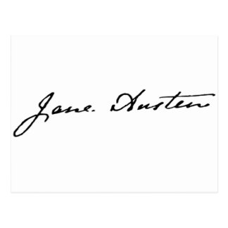 Jane Austen Signature Postcard