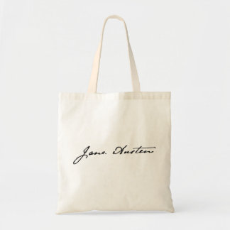 Jane Austen Signature Tote Bag