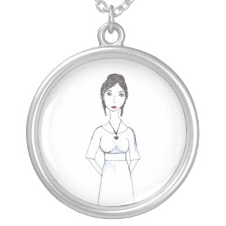 Jane Austen Silver Plated Necklace