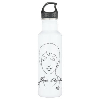 Jane Austen Stainless Steel Water Bottle