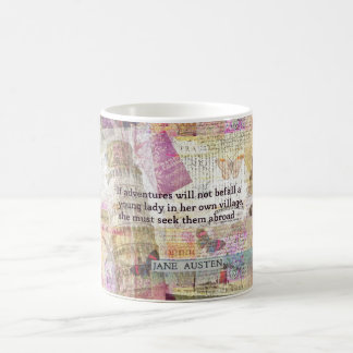 Jane Austen travel adventure quote Coffee Mug