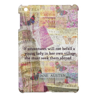 Jane Austen travel adventure quote Cover For The iPad Mini