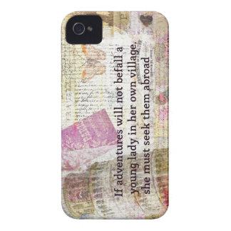 Jane Austen travel adventure quote iPhone 4 Case-Mate Cases