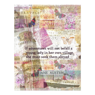 Jane Austen travel adventure quote Letterhead