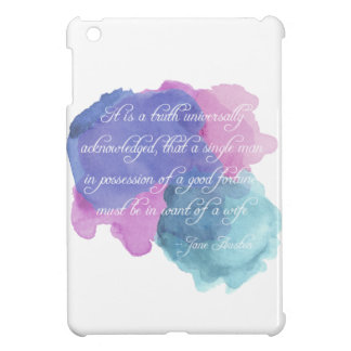 Jane Austen- Truth Universally Acknowledged iPad Mini Case