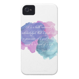 Jane Austen- Truth Universally Acknowledged iPhone 4 Cover