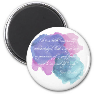 Jane Austen- Truth Universally Acknowledged Magnet