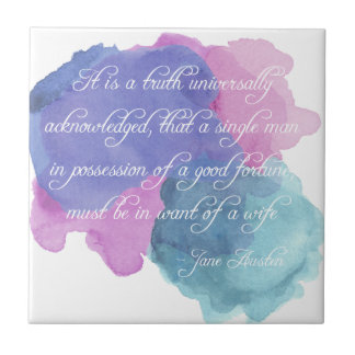 Jane Austen- Truth Universally Acknowledged Tile