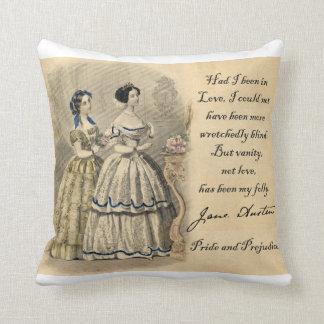 Jane Austen: Vanity Throw Pillow