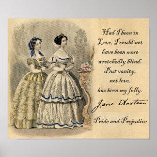 Jane Austen: Vanity Poster