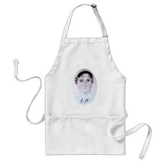 Jane Austen watercolor portrait adult apron. Adult Apron