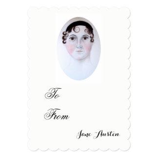 Jane Austen watercolor portrait invitation. Card