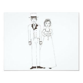Jane Austen Wedding Card