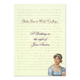 Jane Austen Wedding Celebration Quotes Card