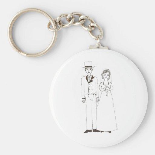 Jane Austen Wedding Keychain