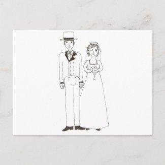 Jane Austen Wedding postcard
