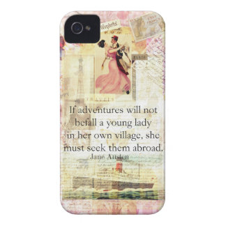 Jane Austen whimsical cute travel quote iPhone 4 Cover