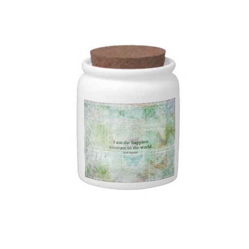 Jane Austen whimsical quote Pride and Prejudice Candy Jars