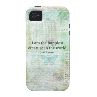 Jane Austen whimsical quote Pride and Prejudice Case For The iPhone 4