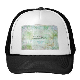 Jane Austen whimsical quote Pride and Prejudice Mesh Hat