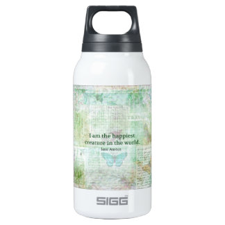 Jane Austen whimsical quote Pride and Prejudice Insulated Water Bottle