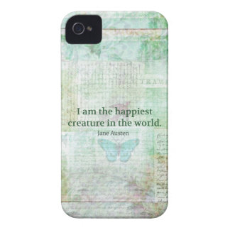 Jane Austen whimsical quote Pride and Prejudice iPhone 4 Case-Mate Case