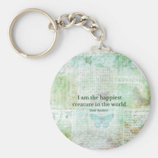 Jane Austen whimsical quote Pride and Prejudice Keychain