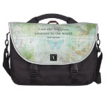 Jane Austen whimsical quote Pride and Prejudice Laptop Commuter Bag
