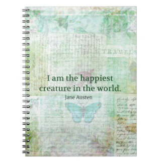 Jane Austen whimsical quote Pride and Prejudice Notebook