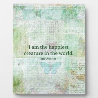 Jane Austen whimsical quote Pride and Prejudice Photo Plaques