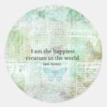 Jane Austen whimsical quote Pride and Prejudice Sticker
