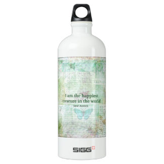 Jane Austen whimsical quote Pride and Prejudice Water Bottle