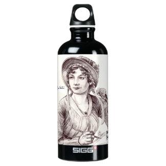 Jane Austen with a Smile 24 oz waterbottle Aluminum Water Bottle