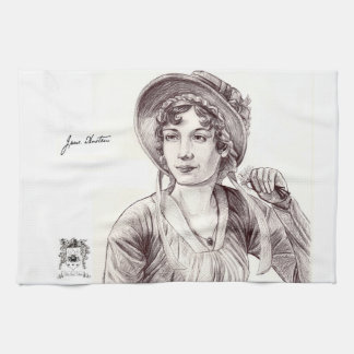Jane Austen with a Smile Kitchen Towel