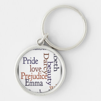 Jane Austen Word Art Keychains