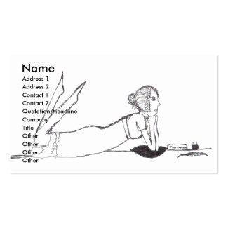 Jane Austen writing Business Card