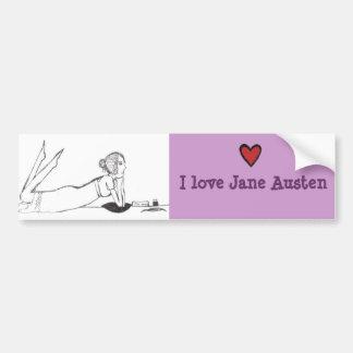 Jane Austen Writing Car Bumper Sticker