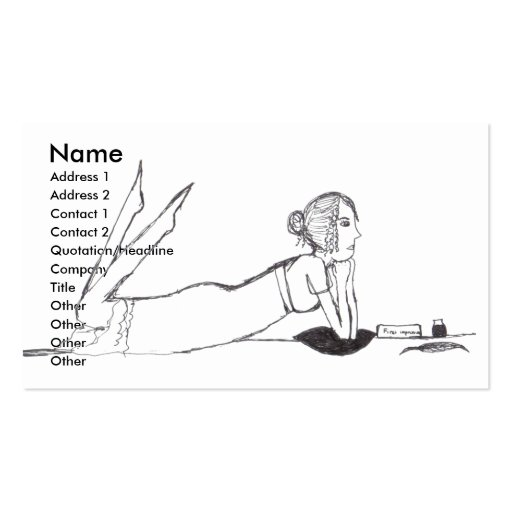 Jane Austen writing Double-Sided Standard Business Cards (Pack Of 100)