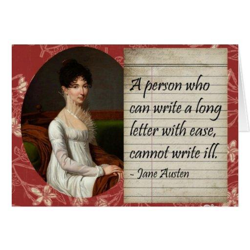 Jane Austen Writing Inspired Design Card