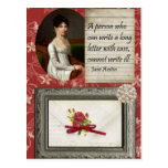 Jane Austen Writing Inspired Design Post Card