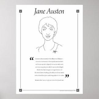 Jane Austen Writing Quote Poster