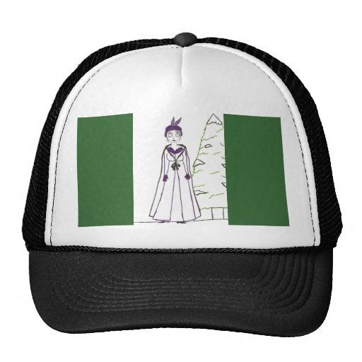 Jane Austen's Creepy Christmas Trucker Hat