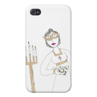 Jane Austen's Creepy Masked Ball Cover For iPhone 4
