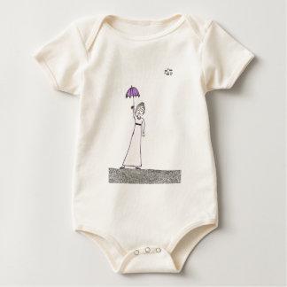 Jane Austen's Creepy Walk Baby Bodysuit