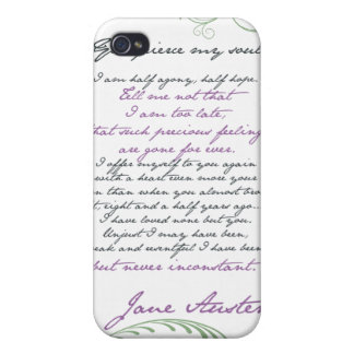 Jane Austen's Persuasion Quote #1 Case For iPhone 4