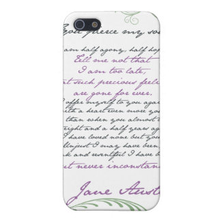 Jane Austen's Persuasion Quote #1 Cover For iPhone SE/5/5s