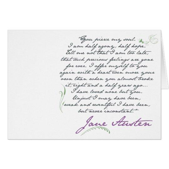 Jane Austen's Persuasion Quote #1 Greeting Card