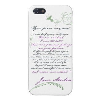 Jane Austen's Persuasion Quote #1 iPhone SE/5/5s Cover