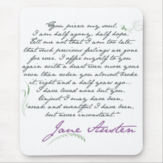 Jane Austen's Persuasion Quote #1 Mouse Pad